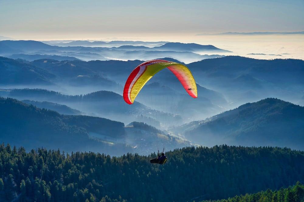 Paragliding im Schwarzwald