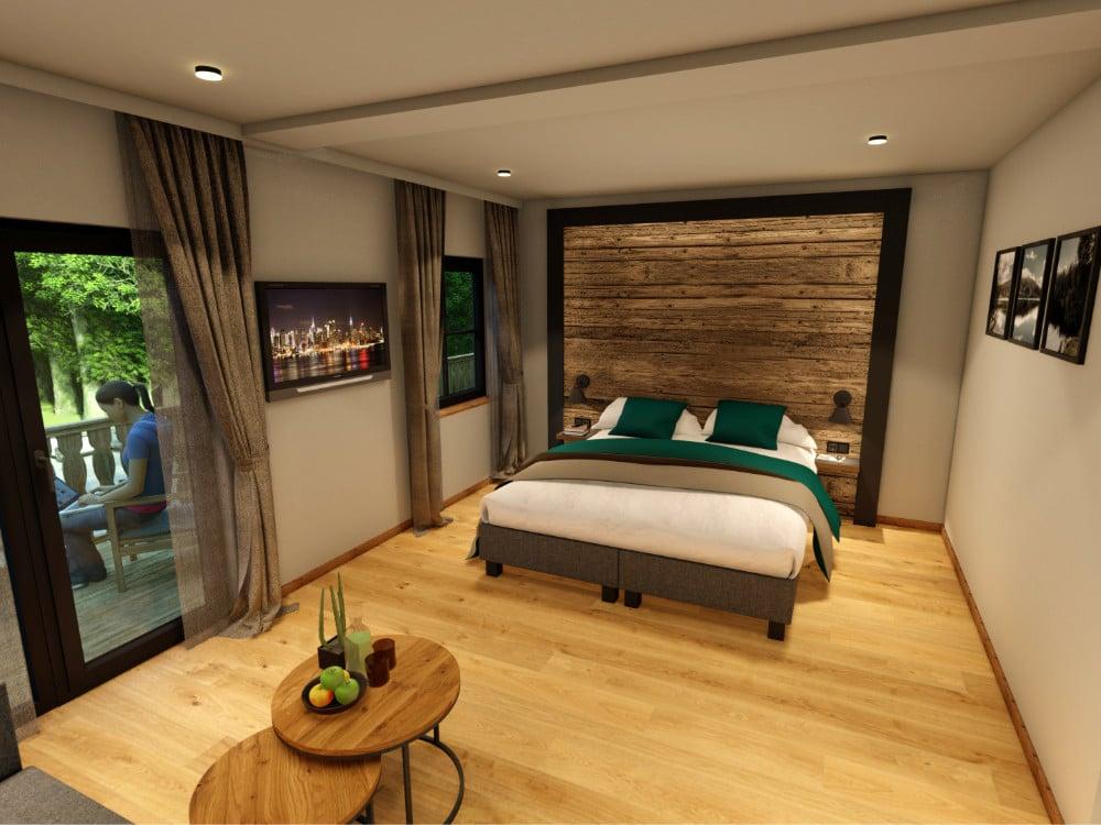 Kleines Doppelzimmer mit Seeblick